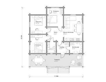 Проект дома Певек 2