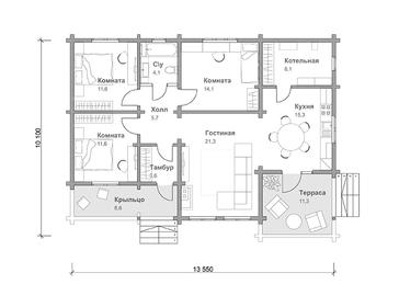 Проект дома Тайга 4