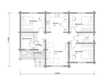 Проект дома Тайга 6