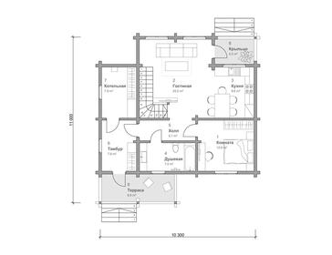 Проект дома Тайга 7
