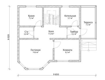 Проект дома Удачный 2