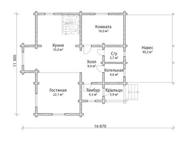 Проект дома Гагарин