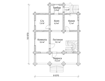 Проект дома Кедровый 2