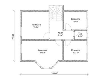Проект дома Суздаль 3