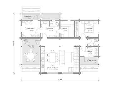 Проект дома Тайга 8