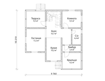 Проект дома Торопец 2