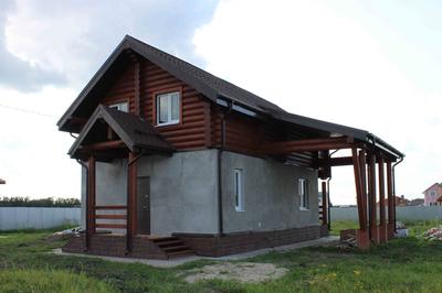Отделка комбинированного дома