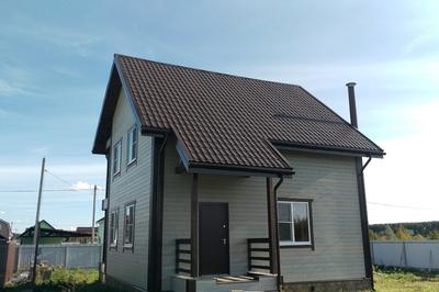 Отделка дома из обрезного бруса
