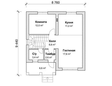 Проект дома Октябрьский