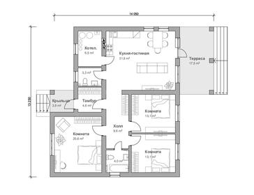Проект дома Бородино 2