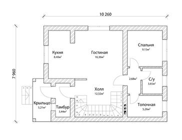 Проект дома Багратионовск