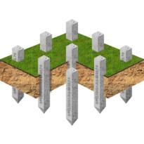 Фундамент на железобетонных сваях
