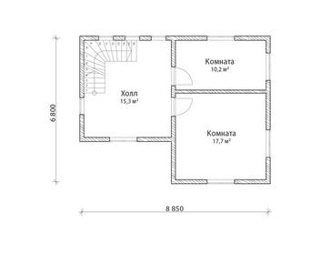 Проект дома Дубовка