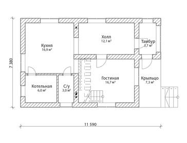 Проект дома Бородино
