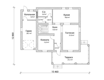 Проект дома Кременки